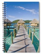 Bungalows Over Ocean Spiral Notebook