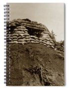 Bunker Above The Dak Poko River Near Dak To Kontum Province Vietnam 1968 Spiral Notebook