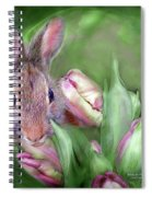 Bunny In The Tulips Spiral Notebook
