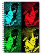 Bunny Pop Art Spiral Notebook