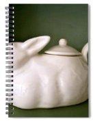 Bunny Teapot  Spiral Notebook