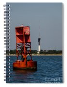 Buoy To Lighthouse Spiral Notebook