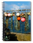 Buoys And Pots In Sennen Cove Spiral Notebook