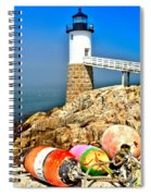 Buoys At The Headlight Spiral Notebook