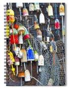 Buoys On Wall - Cape Neddick - Maine Spiral Notebook