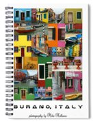 Burano Italy Poster Spiral Notebook