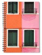 Burano Pink And Orange Spiral Notebook
