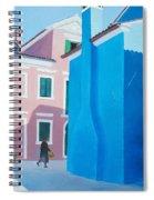 Burano Venice Street Scene Spiral Notebook
