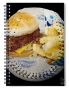 Burger And Fries Baseball Square Spiral Notebook