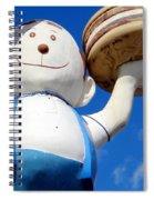 Burgerman Of Coney Island Spiral Notebook