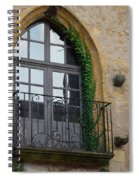 Burgundy Window Spiral Notebook