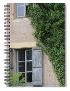 Wood Shutters With Vine Spiral Notebook