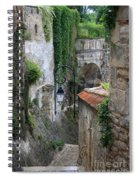 Burgundy Alley  Spiral Notebook