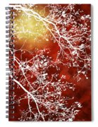 Burgundy Tree Abstract Spiral Notebook