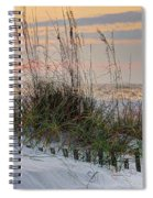 Buried Fence And Sea Oats Sunrise Spiral Notebook