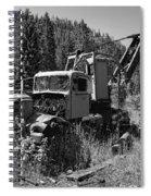 Burke Idaho Logging Truck 2 Spiral Notebook