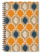 Burlap Blue And Orange Design Spiral Notebook