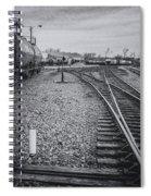 Burlington Vermont Train Yard Vintage Grunge Black And White Spiral Notebook