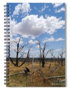Burned Trees On Colorado Plateau Spiral Notebook