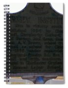 Burney Institute Historical Sign Spiral Notebook