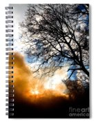 Burning Olive Tree Cuttings Spiral Notebook