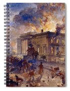 Burning Temple Of The Winds, 1856 Spiral Notebook