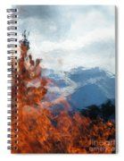 Burning The Winter Blues Away Spiral Notebook