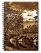 Burnside Bridge At Antietam - Toned Spiral Notebook