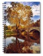 Burnside Bridge At Autumn Sunset Spiral Notebook