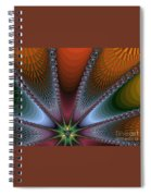 Bursting Star Nova Fractal Spiral Notebook