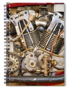 Burt Munro Special Indian Scout Engine Spiral Notebook