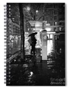 Bus Stop In The Rain Spiral Notebook
