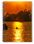 Bushfire Sunset Over The Lake Spiral Notebook