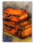 Business Man - Packed Suitcases Spiral Notebook