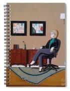 Businesswoman Sitting In Chair Spiral Notebook