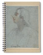 Bust Of A Youth Looking To Upper Left  Spiral Notebook