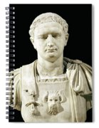 Bust Of Emperor Domitian Spiral Notebook