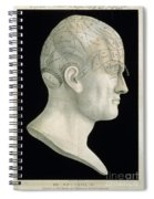 Bust Of Johan Spurzsheim Spiral Notebook