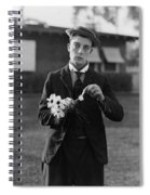 Buster Keaton Portrait Spiral Notebook