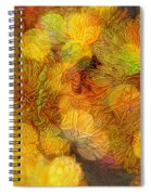 Busy Bee In The Marigolds Spiral Notebook