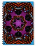 Busy  Bee Kaleidoscope Spiral Notebook