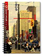 Busy Downtown Toronto Morning Cross Walk Traffic City Scape Paintings Canadian Art Carole Spandau Spiral Notebook
