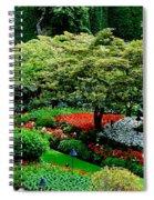 Butchart Gardens Spiral Notebook