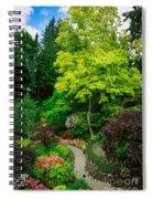 Butchart Gardens Pathway Spiral Notebook