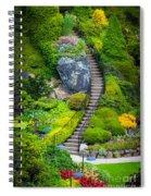 Butchart Gardens Stairs Spiral Notebook
