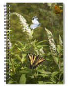 Butterflies In Golden Garden Spiral Notebook