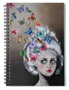 Butterflies In The Thoughts Spiral Notebook