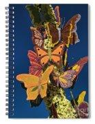 Butterflies On A 2015 Rose Parade Float 15rp047 Spiral Notebook