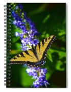 Butterflly Bush And The Swallowtail Spiral Notebook