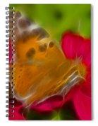 Butterfly-5416-fractal Spiral Notebook